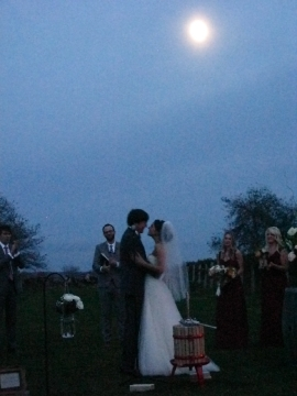 The Moonlit Matrimonial Kiss