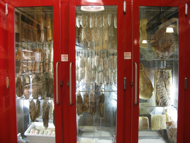 Hanging Salumi at Boccalone