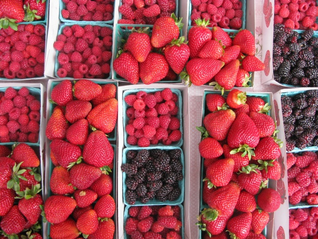 Berries at The Ferry Building Farmers' Market