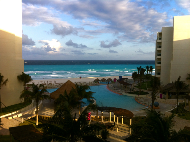 The view from our room at The Westin Cancun