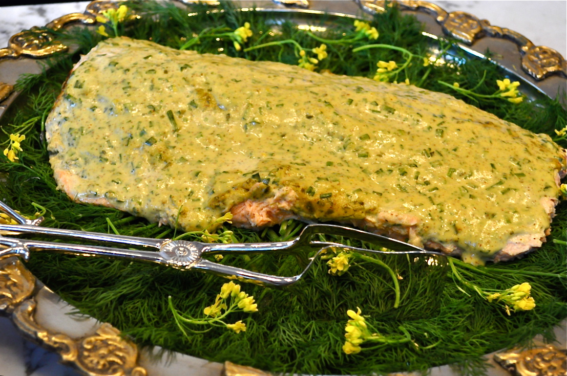 A Roasted Side of Dill-Dijon Wild Salmon