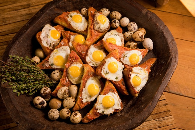 Quail Egg Toasts