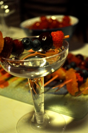 Berrylicious Champagne Cocktail